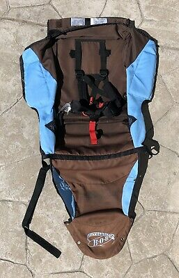 BOB Revolution Single Jogger Stroller FABRIC SEAT Cloth - Brown & Blue - Used