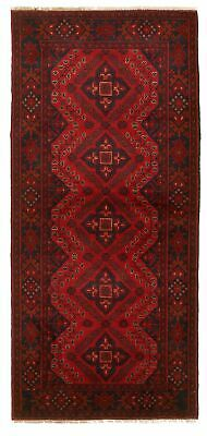 "Hand-knotted Carpet 2'8"" x 6'5"" Traditional Vintage Wool Rug"