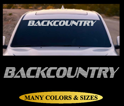 BACKCOUNTRY Windshield Banner Vinyl Decal Sticker Car Truck SUV White Red #7