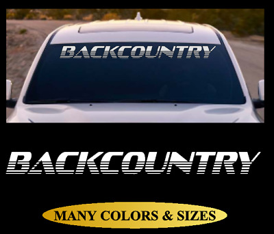 BACKCOUNTRY Windshield Banner Vinyl Decal Sticker Car Truck SUV White Red #8