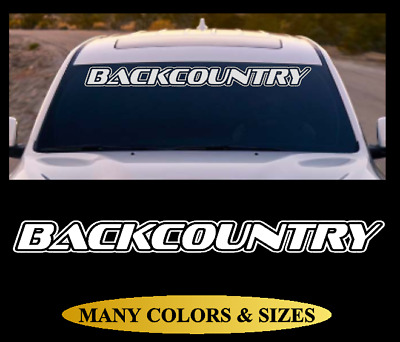 BACKCOUNTRY Windshield Banner Vinyl Decal Sticker Car Truck SUV White Red #9