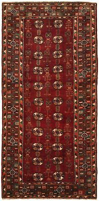 "Hand-knotted Carpet 3'11"" x 8'6"" Traditional Vintage Wool Rug"