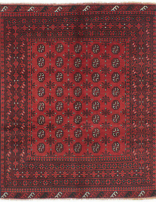 "Hand-knotted Carpet 4'11"" x 6'4"" Traditional Vintage Wool Rug"