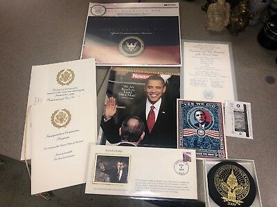 President Barack Obama Presidential Inauguration 2009 Lot of Items