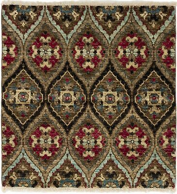 "Hand-knotted  Carpet 4'0"" x 4'1"" Shalimar Transitional Wool Rug"