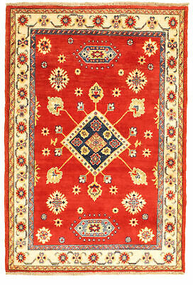 "Hand-knotted Carpet 3'5"" x 4'10"" Bordered, Tribal Wool Rug"