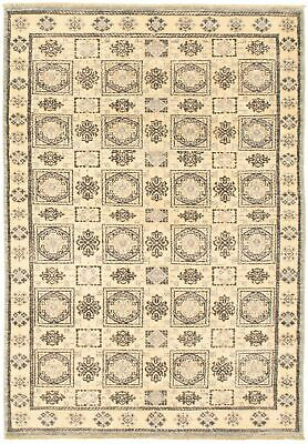 "Hand-knotted  Carpet 4'1"" x 6'0"" Peshawar Finest Transitional  Rug"
