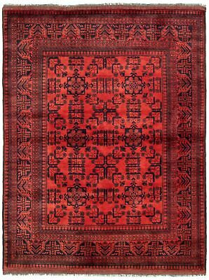 "Hand-knotted Carpet 4'8"" x 6'2"" Traditional Vintage Wool Rug"