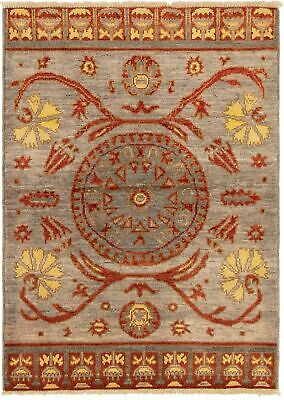 "Hand-knotted  Carpet 4'2"" x 5'10"" Shalimar Transitional Wool Rug"