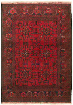 "Hand-knotted Carpet 4'4"" x 6'2"" Traditional Vintage Wool Rug"