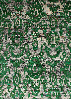 "Hand-knotted  Carpet 5'2"" x 7'4"" Sari Silk Transitional  Rug"