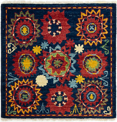 "Hand-knotted  Carpet 4'0"" x 4'0"" Shalimar Transitional Wool Rug"