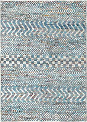 "Hand-knotted  Carpet 5'8"" x 7'9"" Sari Silk Transitional  Rug"