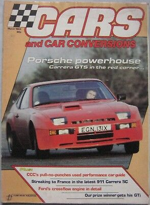 Cars & Car Conversions magazine March 1984 featuring Porsche