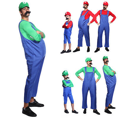 NEW Funny Plumber Red Video Game Boys Childrens Fancy Dress Halloween Costume