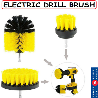 3Pcs/Set Electric Drill Brush Car Cleaning Professional Household Cleaner Kit