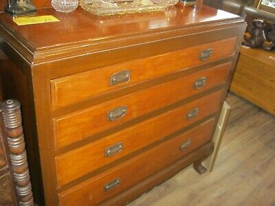Antique Ornate Mahogany Chest Of Drawers. Stunning Piece. Viewing - Delivery