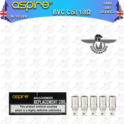 Aspire Bvc Coils Clearomizer 1.8 Ohm - Pack Of 5