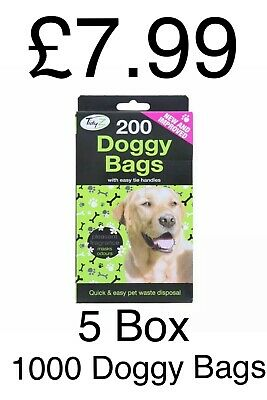 1000 Doggy Bags Scented Dog Poo Waste Tie Handles Pooper Scooper