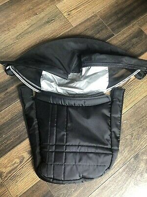 Uppababy Vista Replacement Carrycot Hood & Apron Fabric Black 2010-2014