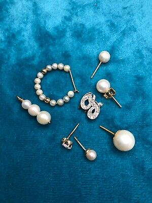 Lot of Odd Pearls with 14K Gold