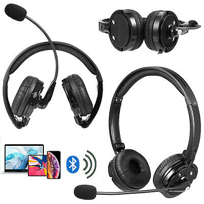 2x1x Wireless Over the Head Bluetooth Headset Truck Driver Noise Cancelling Boom