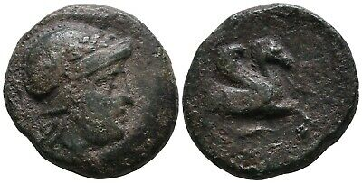 Koc Greek Coins.MYSIA. Lampsakos. 4th-3rd century BC. Bronze, 18mm. 6,23g.