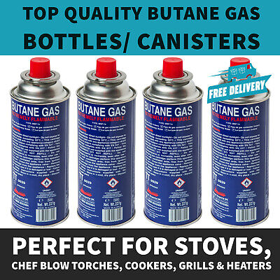 UK 8 X BUTANE GAS BOTTLES CANISTERS FOR PORTABLE STOVES COOKERS GRILL HEATERS