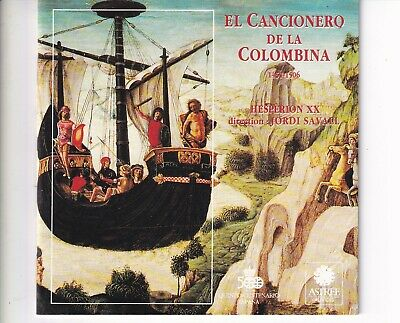 CD JORDI SAVALL	El cancionero de la colombina	SPAIN 1992 NEAR MINT (A5797)