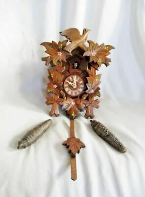 Vintage Antique SCHNEIDER GERMANY BLACK FOREST Wood CUCKOO CLOCK Wall
