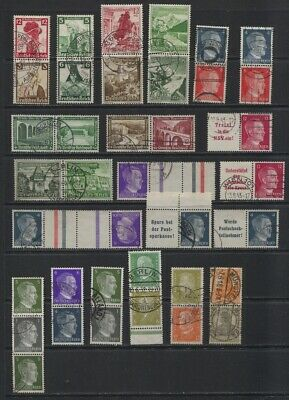 Germany Berlin 1920's-1930's Used Booklet Pairs, Strips Zusammendruck