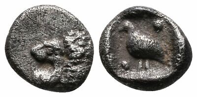 Koc Greek Coins.Ionia, Miletos. Silver Tetartemorion 6mm.0,25g., late 6th-early