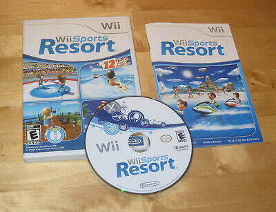 Wii SPORTS RESORT Original Nintendo Wii console system game COMPLETE
