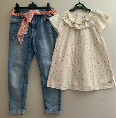 Joules Girls Tunic Top And Mantaray Jeans Aged 9-10 Years