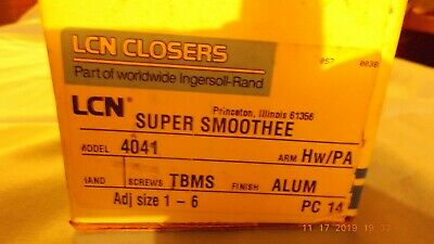 Ingersoll-Rand LCN CLOSERS SUPER SMOOTHEE-4041,ALUM