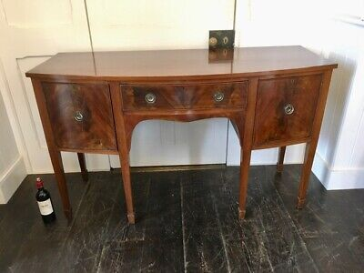 Antique Edwardian George III Style Mahogany Bow Front Sideboard
