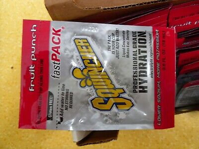 Sqwincher Liquid Concentrate 50 Ea .6Oz Packs Fruit Punch Fast Pack