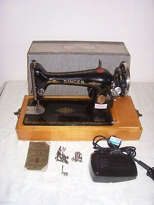 Vintage Singer Electric 66 Sewing Machine  heavy duty PAT tested 99p no reserve