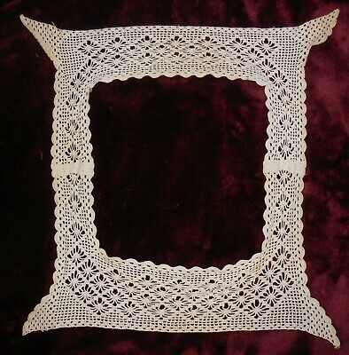 Antique lace collar square hand made