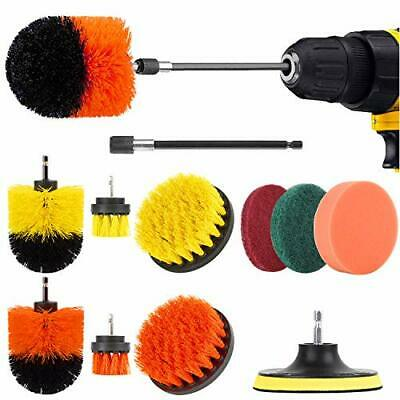 Herrfilk Drill Brush Attachment Set-12 Pieces Power Scrubber Brush for Kitche...