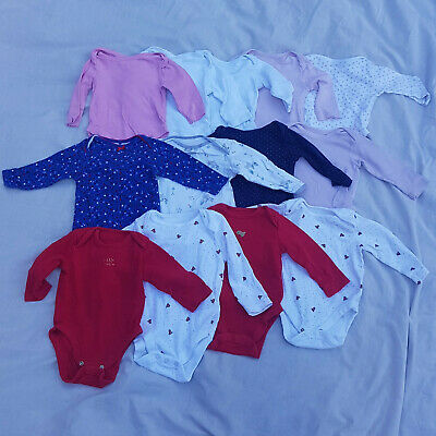 Baby Girl 6-9 Months Long Sleeve Baby Grows 13 Piece Bundle MotherCare Next