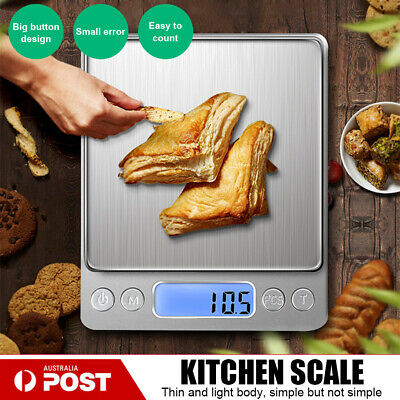 500g Kitchen Digital Scale LCD Electronic Balance Food Weight Postal Scales