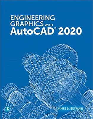 Engineering Graphics with AutoCAD 2020 - Paperback - Good Condition