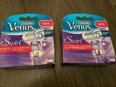 2 x Gillette Venus Swirl Flexiball Pack of 3 Replacement Razor Blades (New)