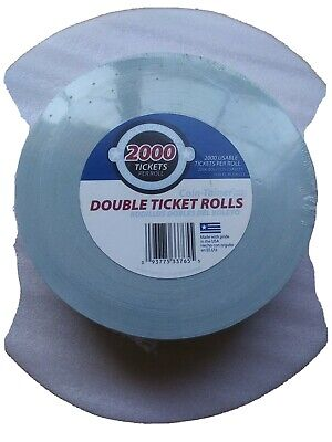 Coin-Tainer Raffle Tickets -  1 Roll of 2000 Double Numbered Tickets
