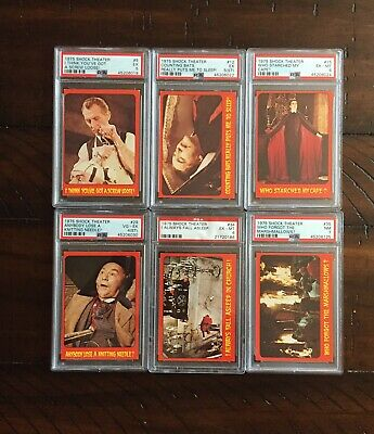 "SHOCK THEATER By TOPPS (1975) ""TEST ISSUE"" 6 Different Cards Each PSA Graded"