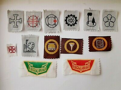 in549 LOT DE 13 INSIGNES SCOUT ARGENTINA USCA SIEMPRE LISTO SCOUTING BADGE