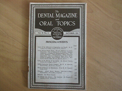 October 1953 - The Dental Magazine and Oral Topics - Journal of Dental Science