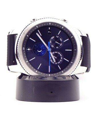 Samsung Galaxy Gear S3 Classic 46mm Stainless Steel Case Black Band - LCD Dot