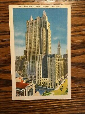 Waldorf Astoria Hotel Post Card, New York City, Posted